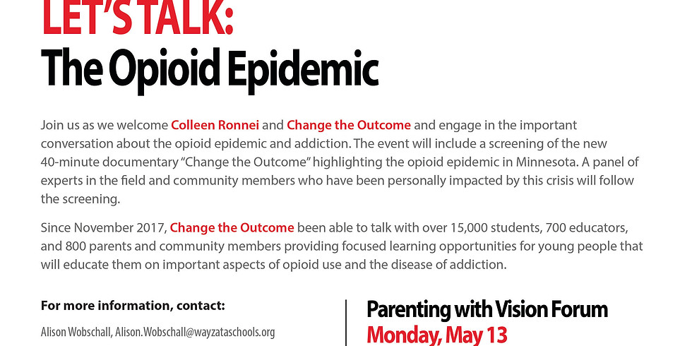 """Parenting with Vision - """"Let's talk: The Opioid Epidemic"""""""