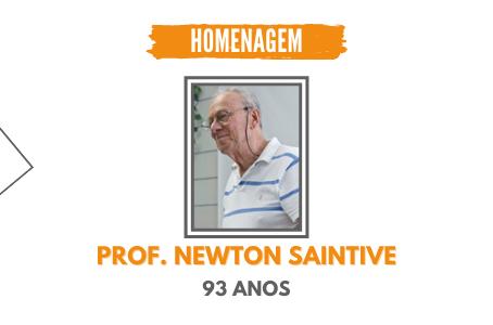 Professor Newton Saintive completou 93 anos