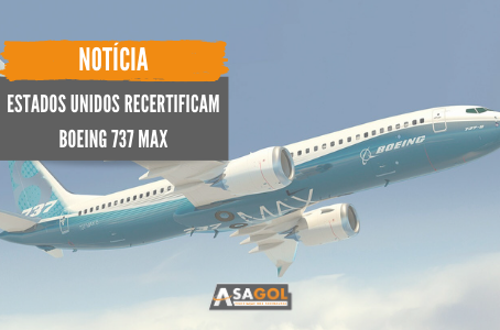Estados unidos recertificam Boeing 737 MAX