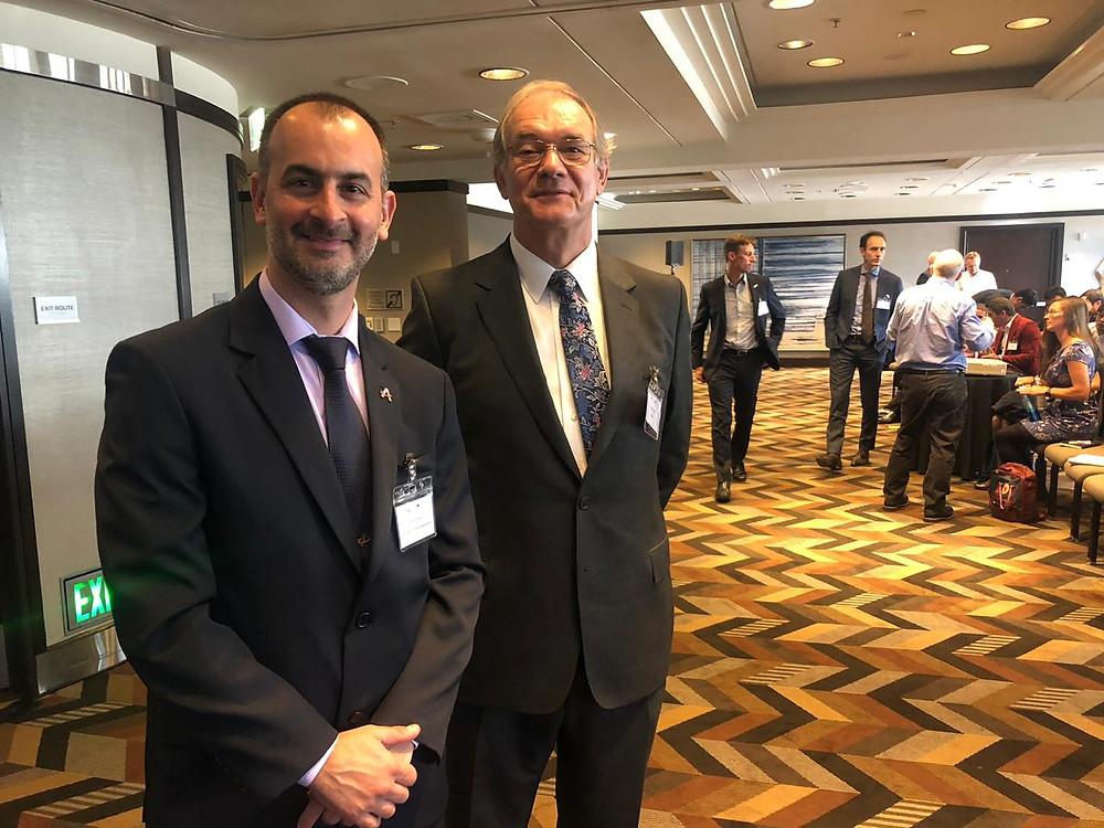 Cmte. Tulio Rodrigues e Douglas Mellor, organizador do FRMS Forum 2019.