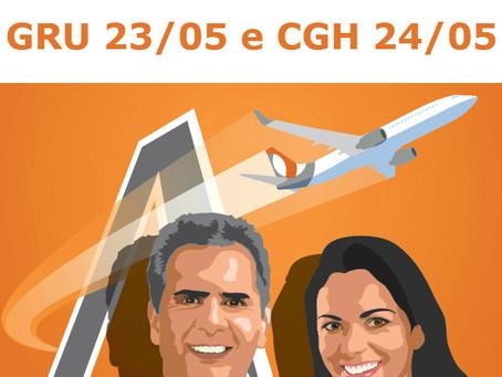 ASAGOL nos DOs: GRU e CGH nesta quarta e quinta!