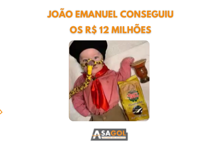 João Emanuel conseguiu os R$ 12 milhões