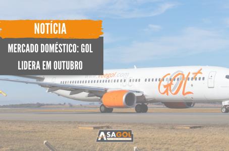Mercado doméstico: GOL - Linhas Aéreas lidera em outubro