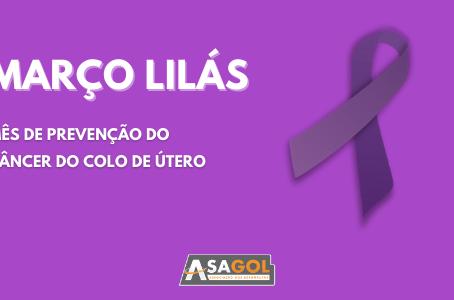 Março Lilás | Mês de prevenção do câncer do colo de útero