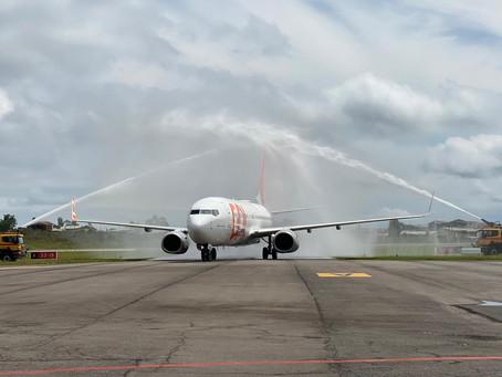 Caxias do Sul: GOL realiza 1º voo com 737-800