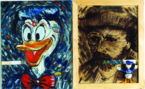 ON THE OTHER SIDE #4 (Duck Gogh)