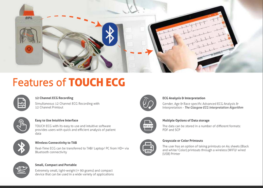 ECG  TOUCH HD+