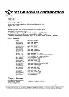 Kosher Certificate