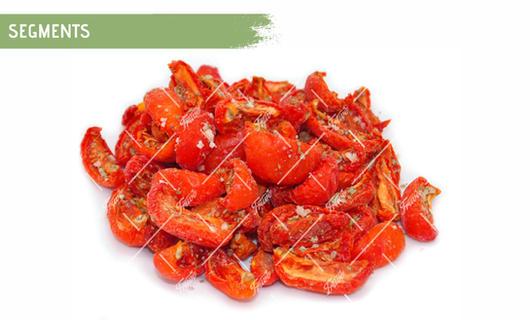 Oven Semi Dried IQF Tomatoes Segments Marinated