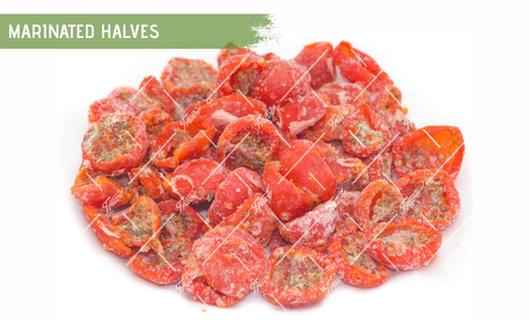 Oven Semi Dried IQF Cherry Tomatoes Marinated Halves