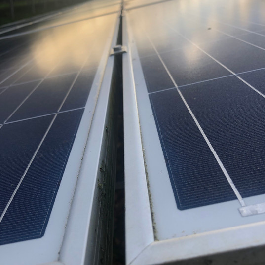 solar farm cleaning