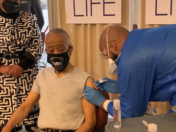 Rev. Sharpton joins Prominent Ministers to Get Vaccinated