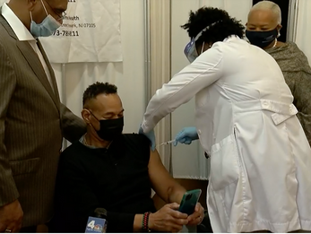 News12 - 10 Newark church leaders receive COVID-19 vaccine to boost confidence among residents