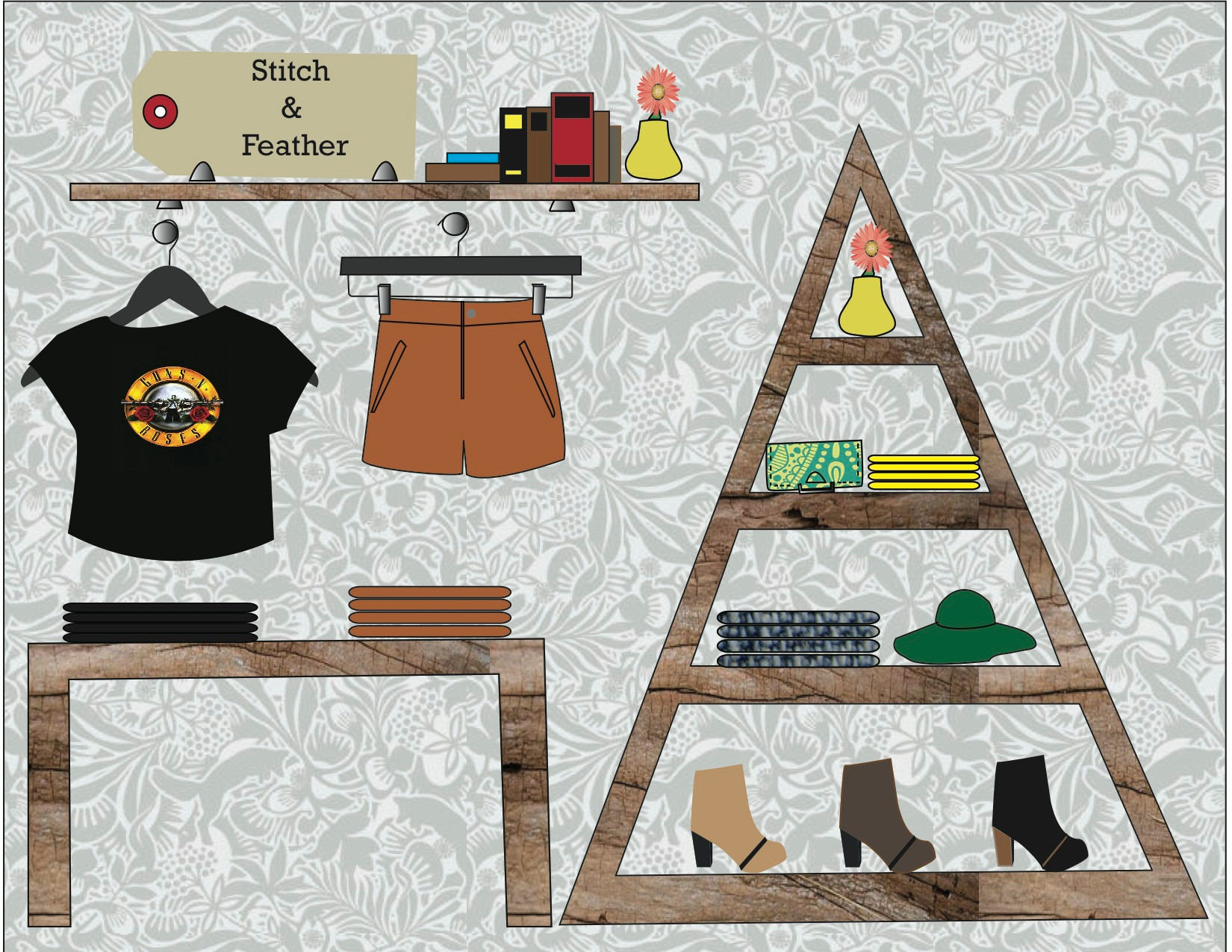 Visual Merchandising Wall Planogram