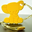 Thumbnail: Silicone Baby Elephant Teether - Sunshine Yellow