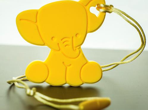 Silicone Baby Elephant Teether - Sunshine Yellow