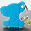 Thumbnail: Silicone Baby Elephant Teether - Cool Ocean Blue