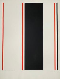 Parallèle rouge et noir - Guido Molinari