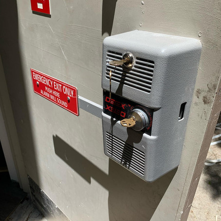 We work on commercial exit devices.