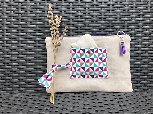 Lavender small pouch