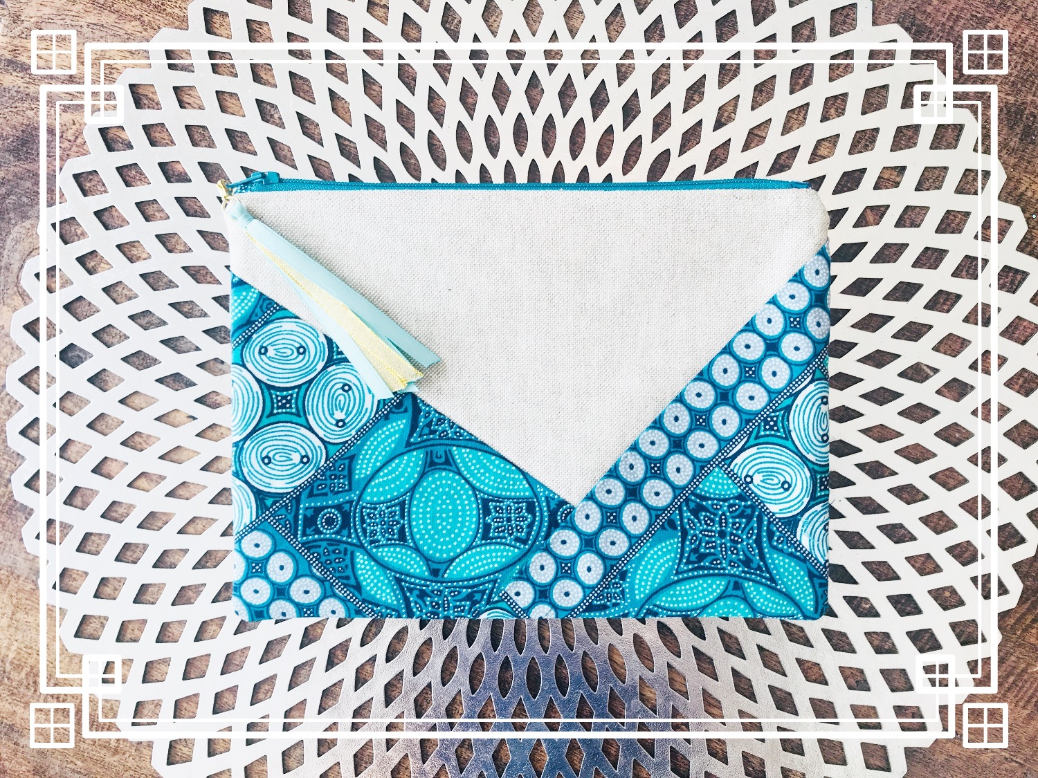 Small lined pouch - Indonesia batik