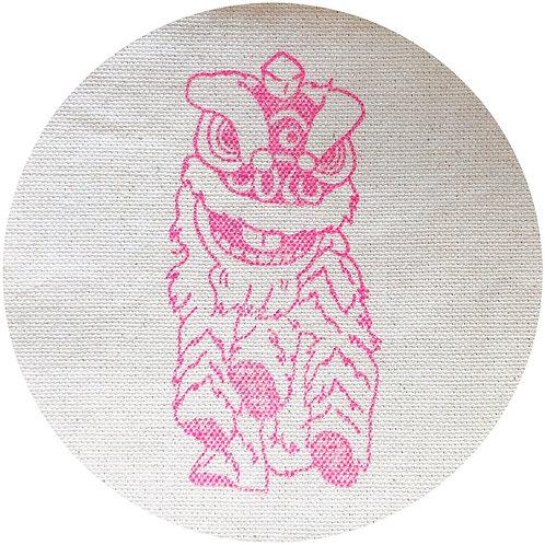 Lion dance stamp