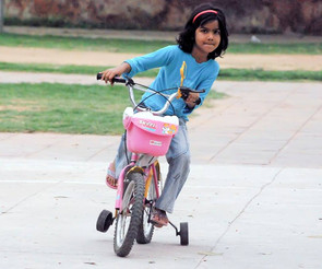 Learning ride a bike with training wheels?