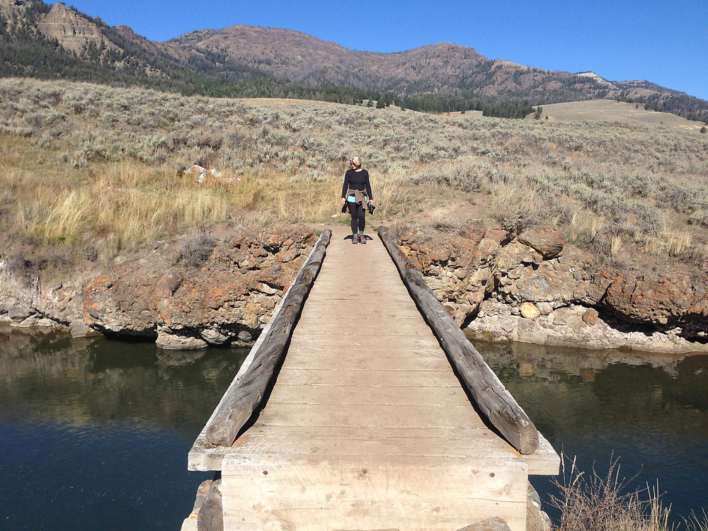 My wife Susan, Lamar Valley, Yellowstone