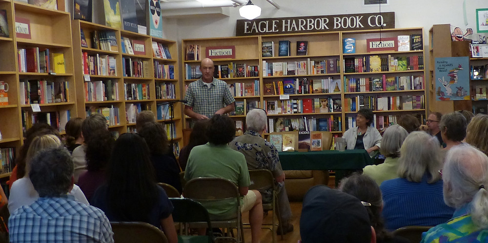 Reading at iconic Eagle Harbor Books