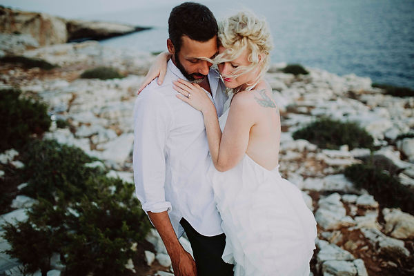 Paros honeymoon photo session