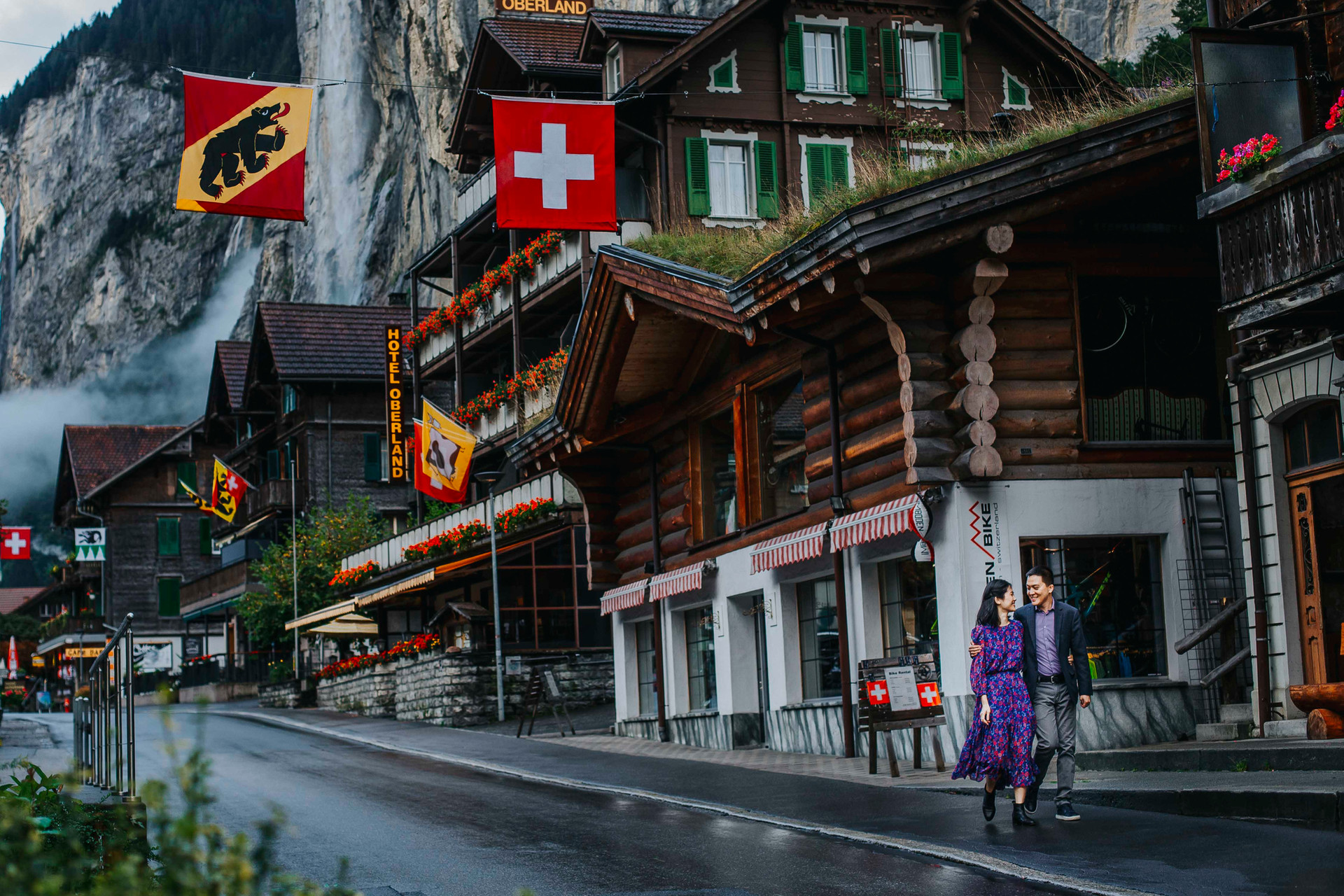 Lauterbrunnen Engagement photo session