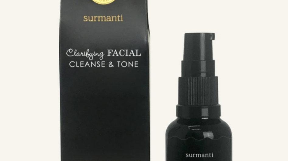 Surmanti Clarifying facial cleanse & tone 50ml