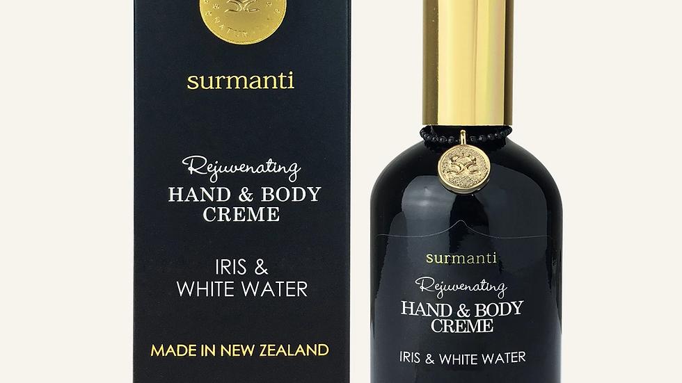 Surmanti Iris & White Water hand & body creme 120ml