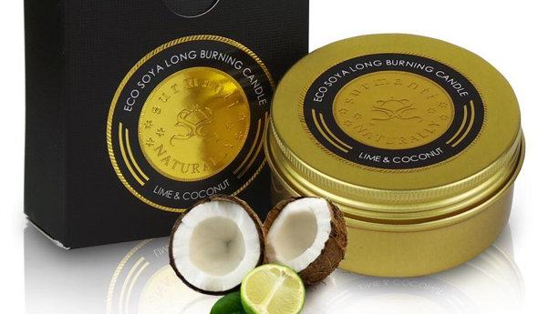 Surmanti Eco Soya Long Burning Candle Lime & Coconut 90 gm
