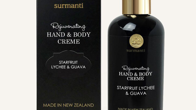 Surmanti Rejuvenating hand & body creme starfruit lychee & guava 300ml
