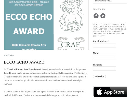 Ecco Echo Prize announced at Cercabando!