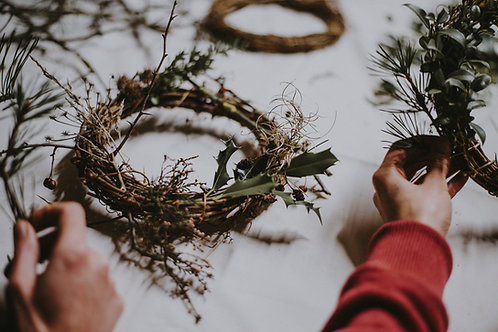 Wreath Class + Afternoon Tea (1 Person)  for Sun 28th Nov (3-6pm)