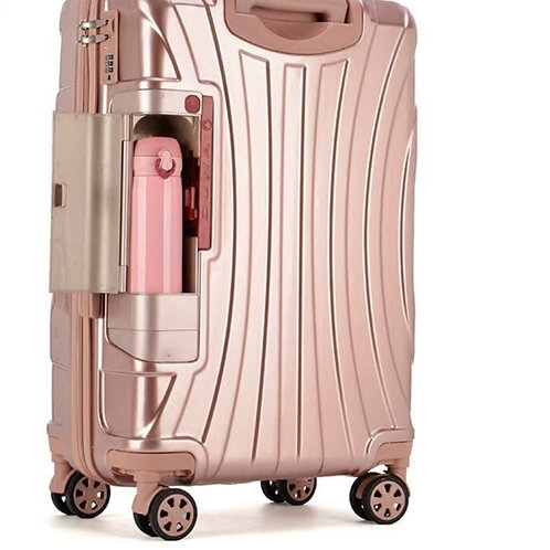 Rolling Suitcase With Cup Holder,