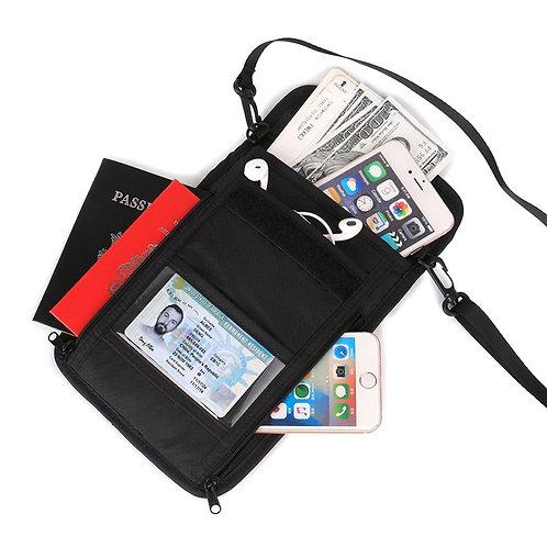 RFID Blocking Travel Neck Pouch Anti-theft