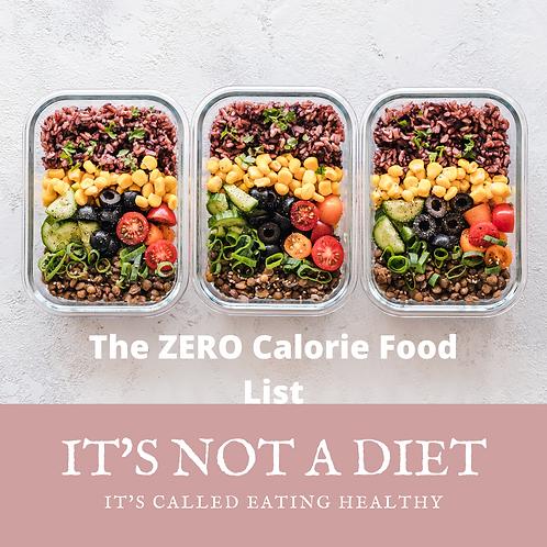 Zero Calorie Food List
