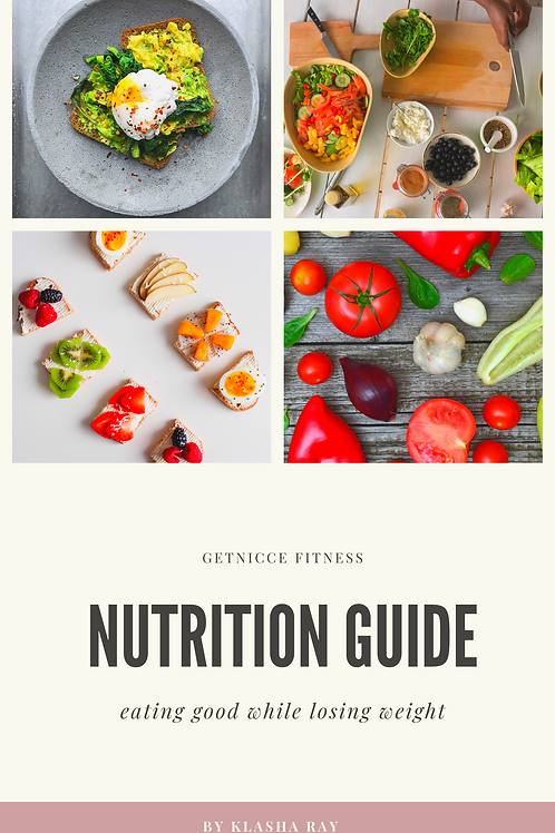 GetNICCE Nutrition Guide