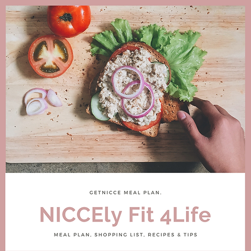 NICCEly Fit 4Life Meal Plan