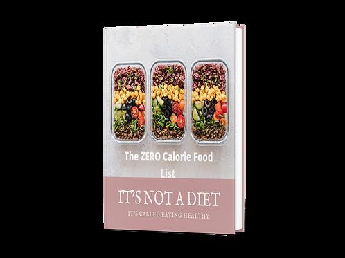 Zero Calorie Food List EBook
