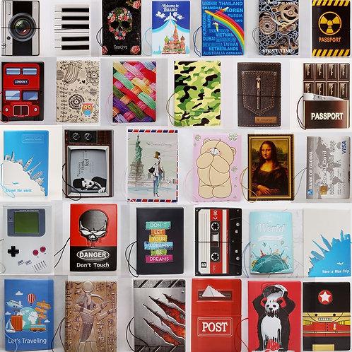 Creative Travel Passport Cover PVC Wallet