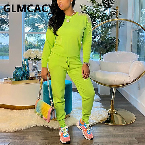 Casual Two Piece Track Suits