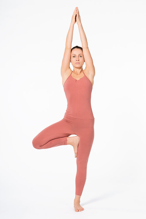 Yoga Jumpsuit Cross CANYON ROSE