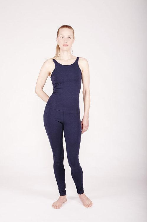 Yoga Jumpsuit Tight DEEP BLUE