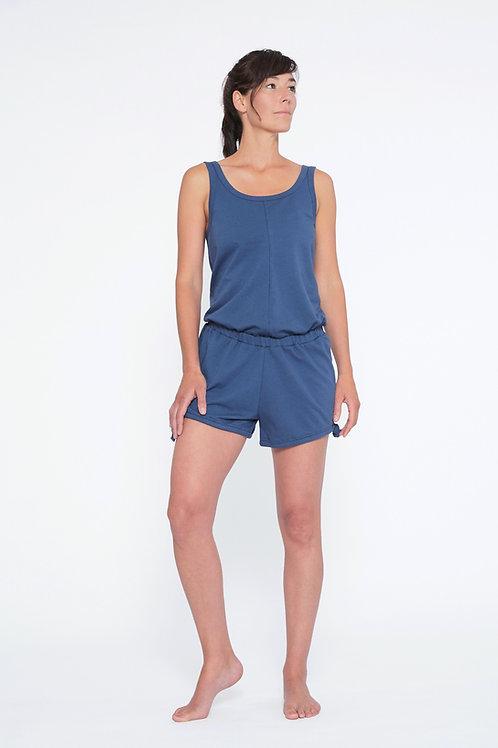 Yoga Jumpsuit Short - INDIGO BLUE