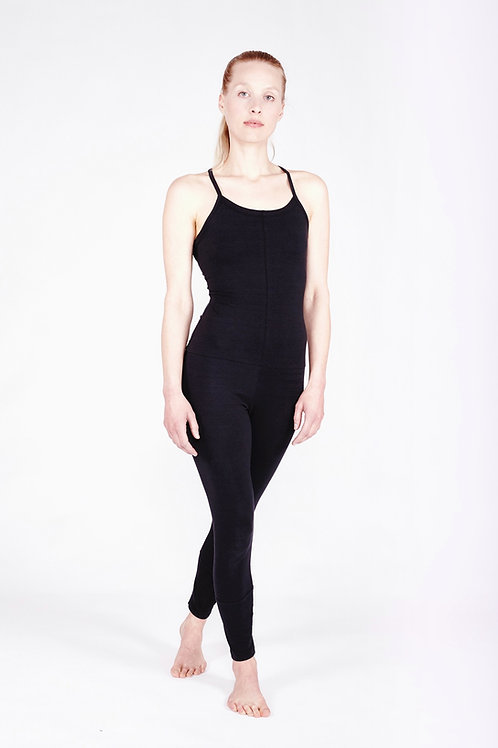 Yoga Jumpsuit Cross - SOFT BLACK