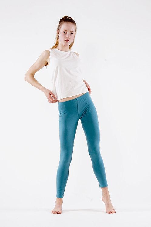 Yoga Leggings Plain - CYAN